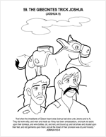 joshua and gibeonites coloring pages - photo#19