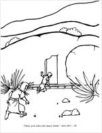 Peter & John Visit Jesus' Tomb