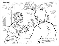 Jesus Heals Ten Lepers-icon