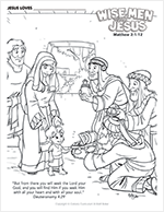 Wise Men Visit Jesus-Icon